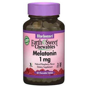 Earth Sweet Chewables Melatonin Raspberry 60 Chews By Bluebonnet Nutrition