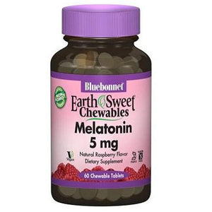 Earth Sweet Chewables Melatonin Raspberry 120 Chews By Bluebonnet Nutrition