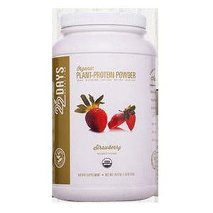 Plant-Protein Powder Strawberry 28.6 oz By 22 Days Nutrition