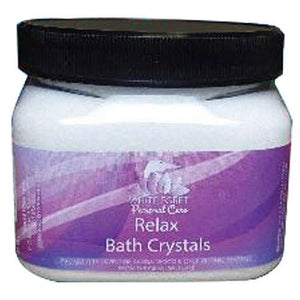 Bath Crystals Relax 16 oz By White Egret