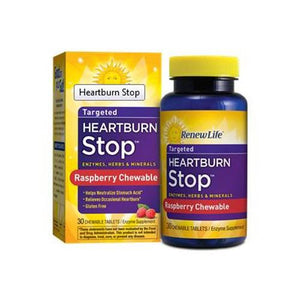 Heartburn Stop 30 Chewable Tabs By Renew Life