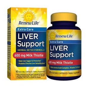 Extra Care Liver Support 90 Veg Caps By Renew Life