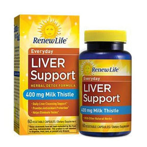 Everyday Liver Support 60 Veg Caps By Renew Life