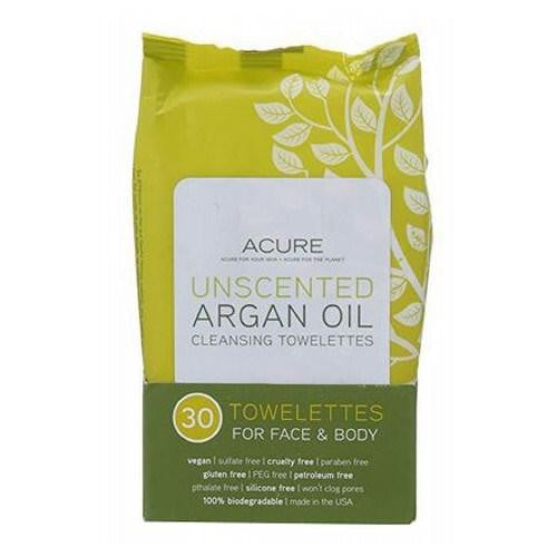Argan Oil Cleansing Towelettes 30 Count By Acure