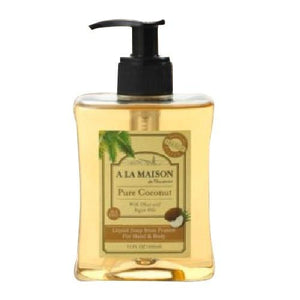 Liquid Hand & Body Soap Pure Coconut 10 Oz By A La Maison