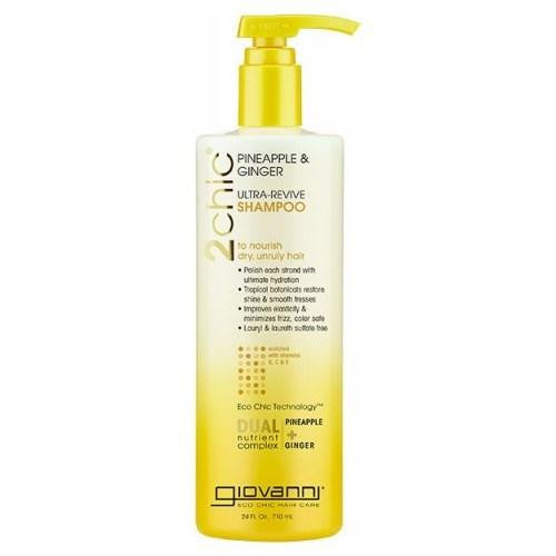 2 Chic Ultra-Revive Shampoo Pineapple & Ginger Shampoo 8.5 Oz By Giovanni Cosmetics
