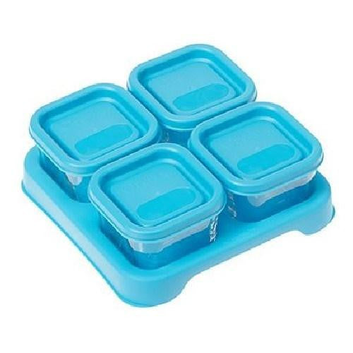 Fresh Baby Food Glass Cubes Aqua 4 Count By Green Sprouts