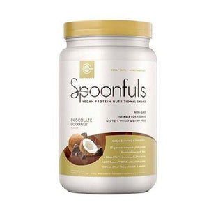Spoonfuls Vegan Protein Nutritional Shake Chocolate Coconut 24.19 Oz By Solgar