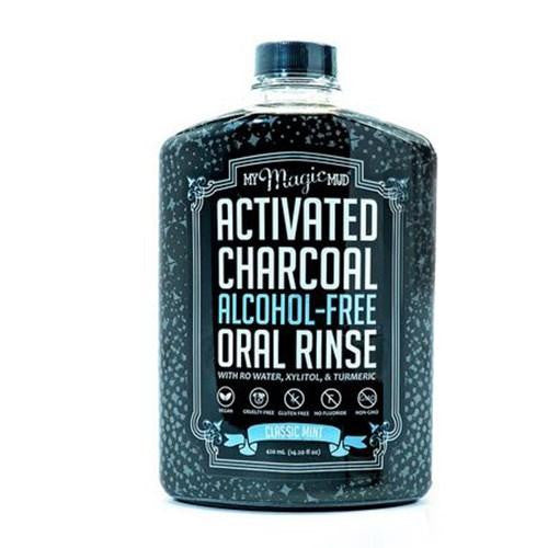 Activated Charcoal Oral Rinse Classic Mint - 14.2 Oz