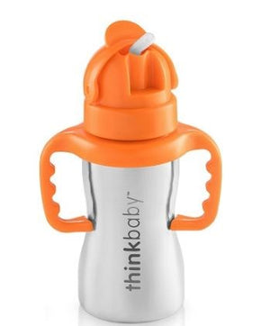 Thinkster Steel Bottle Silver 9 oz By Thinkbaby