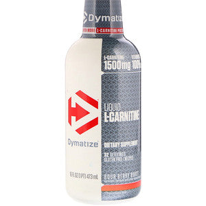 Dymatize Liquid L-Carnitine 1500, Sour Berry Burst 16 Oz