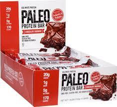 Paleo Protein Bar Chocolate Brownie 12 Bars By Julian Bakery