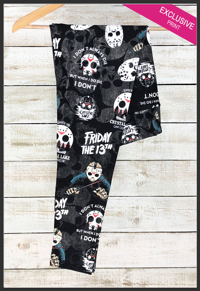 Friday the 13the Jason Leggings Crystal Lake Leggings Arrow Trend Leggings