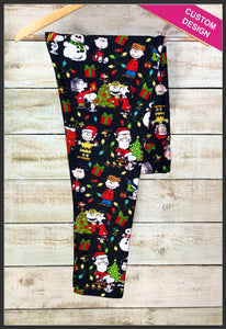 Peanuts Christmas Leggings Custom Print Christmas Leggings Charlie Brown Christmas - Arrow Trend Leggings