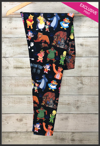 Custom Disney's Famous Bears Leggings  - Arrow Trend Leggings