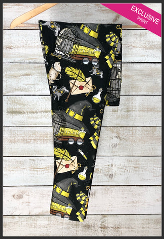Harry Potter Leggings Hufflepuff Custom Print Harry Potter Hufflepuff House Leggings - Arrow Trend Leggings