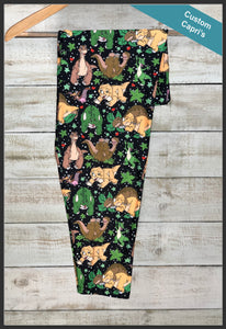 Custom Land before Time Capri Leggings Land Before Time Novelty Legging Capri's - Arrow Trend leggings