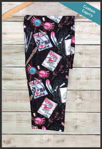 Harry Potter Luna Lovegood Capri Leggings Custom Novelty Leggings Capri's - Arrow Trend Leggings