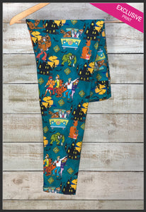 Scooby Doo Leggings Mystery Machine Custom Scooby Leggings - Arrow Trend Leggings