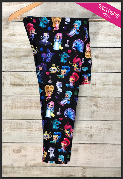 Shimmer and Shine Custom Leggings Disney Jr. Shimmer and Shine Leggings - Arrow Trend Leggings