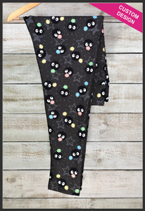 Soot Sprites and Candies Leggings Custom Print Novelty Leggings Susuwatari Leggings - Arrow Trend Leggings