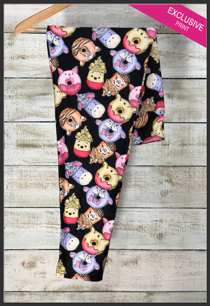 Winnie the Pooh Sweet Treat Leggings Custom Winnie Treats Leggings - Arrow Trend Leggings