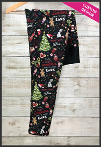 Disney Christmas Leggings Custom Christmas Leggings - Arrow Trend Leggings