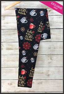 Christmas Leggings Baby It's Cold Outside Leggings - Arrow Trend leggings