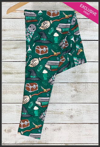 Harry Potter Slytherin Leggings Slytherin House Custom Yoga Band Leggings Owls Arrow Trend Leggings