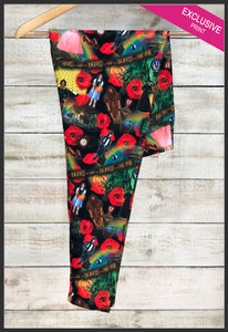 Wizard of Oz Leggings Wizard of Oz Movie Montage Leggings Dorothy Wicked Witch poppy flower - Arrow Trend Leggings