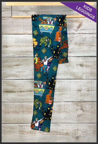 Kids Scooby Doo Leggings Custom Kids Leggings Scooby - Arrow Trend Leggings