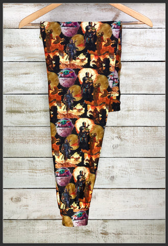 Mandalorian Joggers Custom Print Novelty Jogger Pants Baby Yoda Joggers - Arrow Trend Leggings
