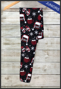 Juniors Baby It's Cold Outside Christmas Leggings Custom Christmas Leggings - Arrow Trend Leggings