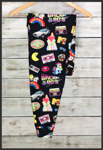 Back to the 80's Joggers Custom Print Novelty Jogger Pants 80's Nostalgic Joggers - Arrow Trend Leggings