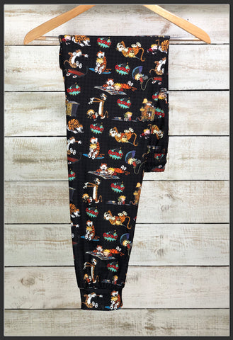 Calvin and Hobbs Joggers Custom Print Novelty Jogger Pants Calvin + Hobbs Joggers - Arrow Trend Leggings