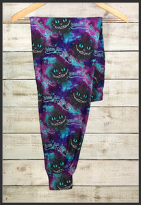Cheshire Cat Joggers Custom Novelty Jogger Pants with Pockets - Arrow Trend Leggings