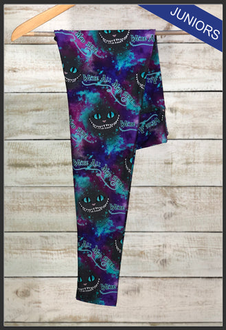 Juniors Alice in Wonderland Custom Leggings Custom Novelty Leggings Cheshire Cat Leggings - Arrow Trend Leggings