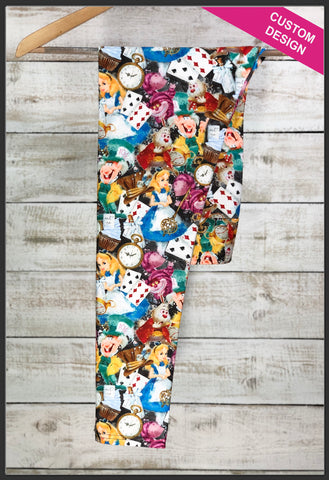 Alice in Wonderland Leggings Disney's Alice in Wonderland Apparel Alice in Wonderland Watercolor Leggings - Arrow Trend Leggings