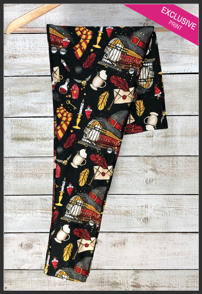 Harry Potter Gryffindor Leggings Gryffindor House Yoga Band Custom Leggings - Arrow Trend Leggings
