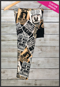 Custom Harry Potter Leggings Harry Potter Newspaper Leggings - Arrow Trend Leggings