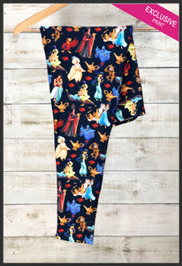 Custom Disney Inspired Aladdin Leggings Princess Jasmine Leggings - Arrow Trend Leggings