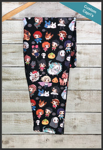 Studio G Leggings Custom Print Studio Ghibli Capri Leggings - Arrow Trend Leggings
