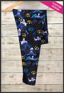 Custom Disney Villain Leggings Ursula Leggings  - Arrow Trend Leggings
