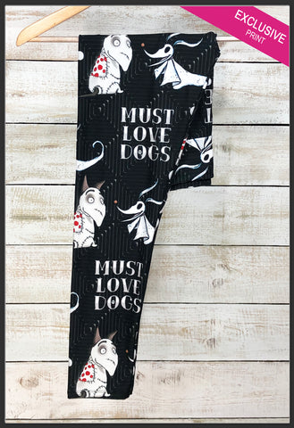 Zero Frankenweenie Leggings Tim Burton Dog Leggings Halloween Leggings - Arrow Trend Leggings