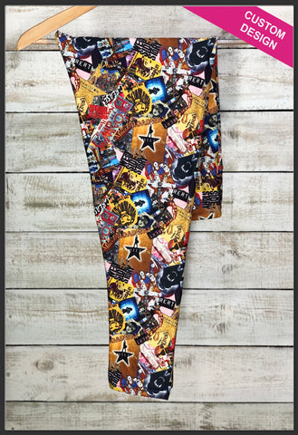 Broadway Show Leggings Custom Novelty Leggings Broadway Shows Custom Print Leggings - Arrow Trend Leggings