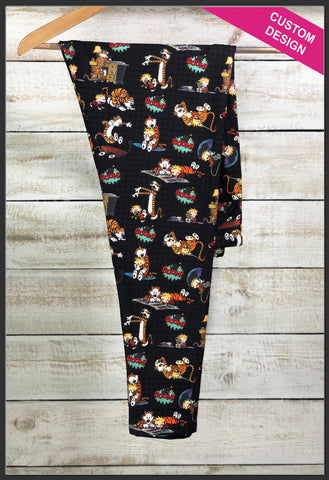 Calvin and Hobbs Leggings Custom Print Novelty Leggings Calvin + Hobbs Leggings - Arrow Trend Leggings
