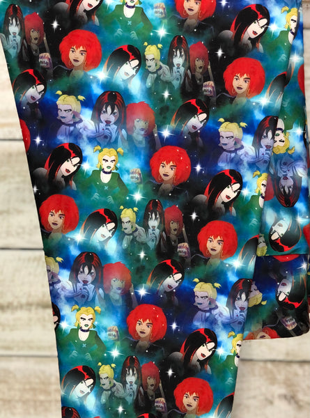 Scooby Doo's Hex Girls Leggings Custom Print Hex Girls Leggings Close Up - Arrow Trend Leggings
