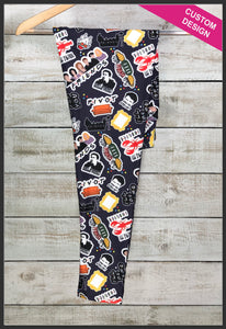 Friends Leggings Custom Print Novelty Leggings Friends TV Leggings - Arrow Trend Leggings