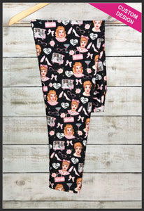 I Love Lucy Custom Leggings I Love Lucy Leggings Nostalgic Apparel - Arrow Trend Leggings