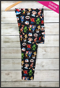 Food Mascot Leggings Custom Print Novelty Leggings Food Mascots Leggings - Arrow Trend Leggings
